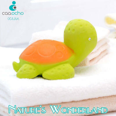 Mele Sea Turtle BATH TEETHING TOY Pure Natural Rubber CaaOcho Ocean Collection