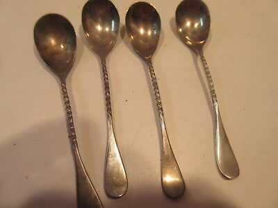 CROWN SILVER SPOONS  lot of 4 617c