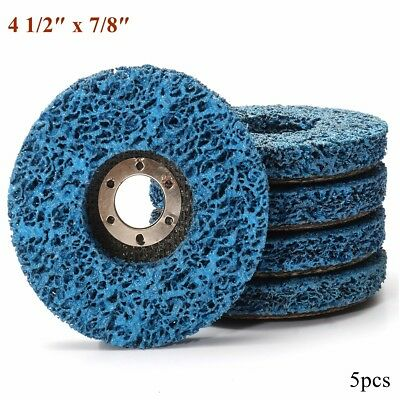 """5x 115mm/4-1/2"""" Paint Rust Remover Abrasive Poly Strip Wheel Discs Angle Grinder"""