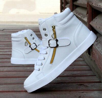 low priced 45736 19448 NEW 2018 Men s Shoes Fashion Leather Shoe Casual High Top Sneakers Shoes