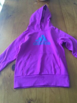 Girls Purple Adidas Jumper - Size 9-10 Years