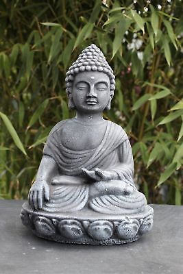 buddha skulptur 50 cm h he wetterfest feng shui figur statue deko gartendeko eur 44 90. Black Bedroom Furniture Sets. Home Design Ideas