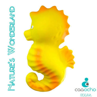 Nalu the Seahorse BATH TEETHING TOY Pure Natural Rubber CaaOcho Ocean Collection