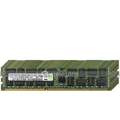 Samsung 32GB 8x4GB 2Rx4 PC3-12800R DDR3-1600Mhz 240Pin ECC REG Server Memory RAM