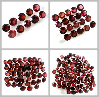 5mm Lot 10,20,50,100pcs Round Cut Accent Stone Natural Red MOZAMBIQUE GARNET
