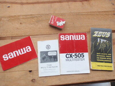 Multi-meter booklets Sanwa, Zeuss reference charts