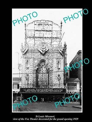 OLD LARGE HISTORIC PHOTO OF St LOUIS MISSOURI, VIEW OF FOX THEATER OPENING c1929