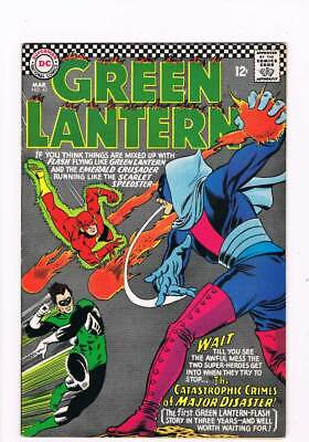 Green Lantern # 43 Catastrophic Crimes of Major Disaster !  grade 8.5 scarce !!