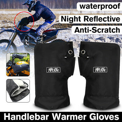 Motorcycle Scooter Bike Handlebar Grip Muffs Gloves Protection Mitts Hand Warmer