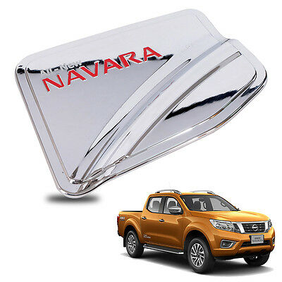 For 15+ Nissan Navara NP300 Frontier 4WD Fuel Tank Cap Cover Chrome