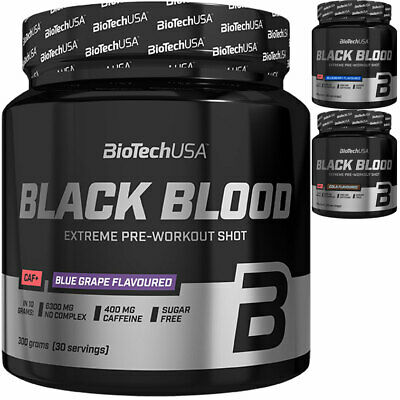 BioTech Black Blood Pre-Workout Hardcore Booster Koffein Bodybuilding Extreme
