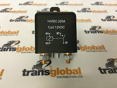 Heavy Duty 200 Amp Split Charge Relay Dual Battery Charging Relay