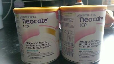 2 tins neocate lcp new and sealed exp November 2018