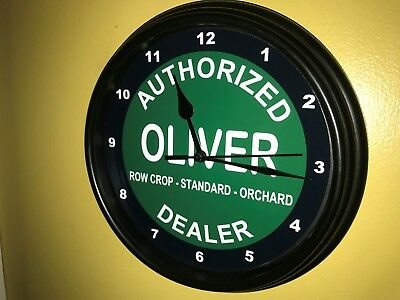 Oliver Farm Tractor Barn Store Garage AuthDealer Man Cave Wall Clock Sign