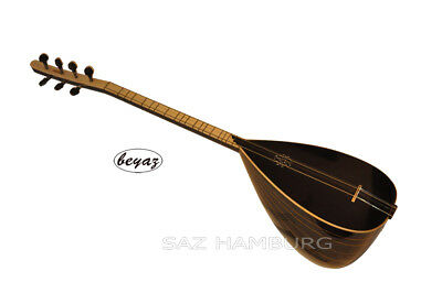 Quality black Baglama  Saz with Gigbag  Extra Strings & Plectrum brand Beyaz