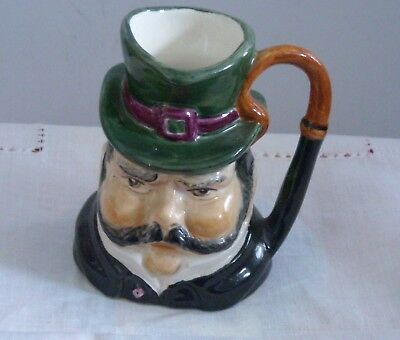 """MINIATURE HAND PAINTED SYLVAC CHARACTER/TOBY JUG """"The CABBY"""" 4467 E.HOBDAY DERBY"""