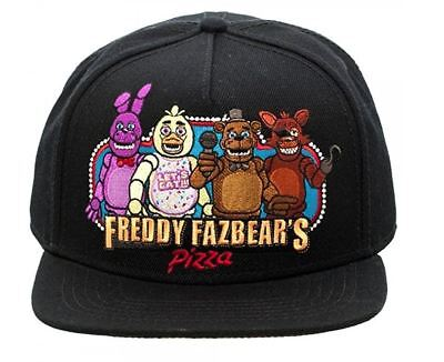 Five Nights At Freddy s Black Snapback Baseball Cap Freddy Fazbear s Pizza  Hat 38816875cdb