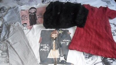 NEXT ZARA Bundle Red Party Dress Fluffy Jumper 4 Long Sleeve Tshirts Sparkly 8yr