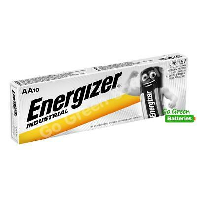 10 x Energizer AA Industrial Alkaline Batteries 1.5V LR6 MN1500  2027 expiry