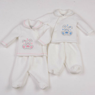 Premature Baby Clothes  Tiny 3 piece set boy girl white first size - NB Reborn