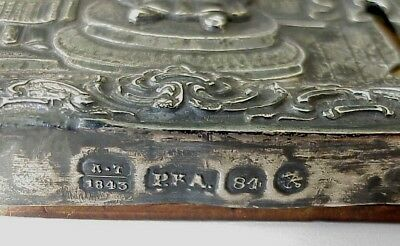 "1843 year RUSSIAN MSTERA ROYAL IMPERIAL ICON 84"" SILVER OKLAD, POKROV MOTHER GOD"