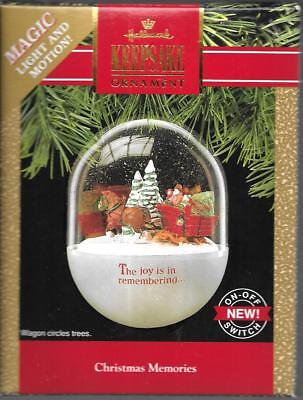 Hallmark Keepsake Ornament Christmas Memories Santa Horse Drawn Wagon Snow