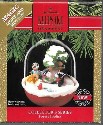 Hallmark Keepsake Ornament Collector Series Forest Frolics 1990 Bunny Swings