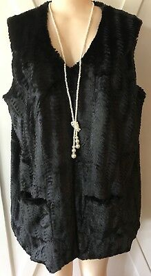 Womans Wrap 3X Nwt Black Faux Fur 22 24 Xxxl Soft Gorgeous Vest New Years Deal