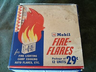 Mobil Gas Pegasus Fire Flares 148 Complete in the Box RARE Vintage advertising A