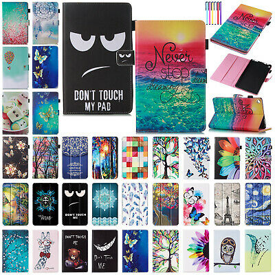 "For Amazon Fire HD 8"" 2018 2017 Patterned Leather Folio Flip Stand Case Cover"