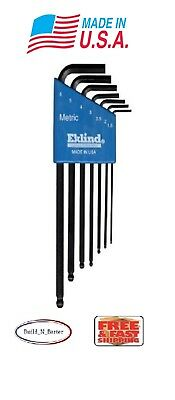 Eklind Metric MM Long Arm Ball Hex L Key Allen Wrench 7 piece Set or Individual