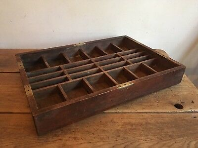 Vintage Oak Engineers Storage Tray!