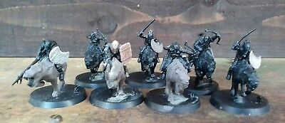 Lord Of The Rings Wild Warg Orc Riders X7 (plastic) 1999.
