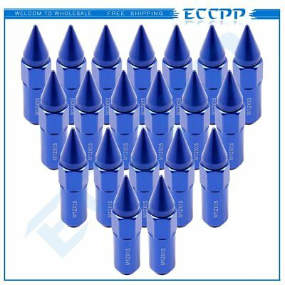 20 Pc M12x1.5 Blue Cap Spiked Extended Tuner Aluminum  Lug Nuts For  Honda Acura
