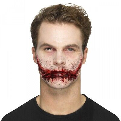 Stitched Smile Prosthetic Costume Makeup Adult Halloween