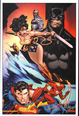 Justice League by Ed McGuinness Signed Print free shipping