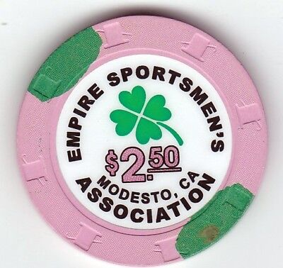 $2.50 Empire Sportsmen's Association Modesto,  California Casino Chip