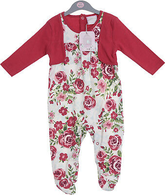 Baby Girls Floral Bolero Chloe Louise All in one outfit  Spanish style 0-3 - 6-9
