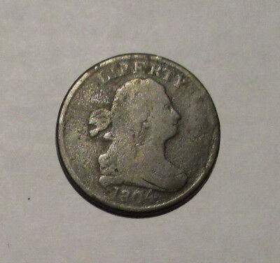1804 Draped Bust Half Cent Spiked Chin C5 R4