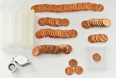 Lincoln Penny Cents 1954-S, 1957-D, 1958-D, 1960, 1961, 1964-D, 1970 from Rolls
