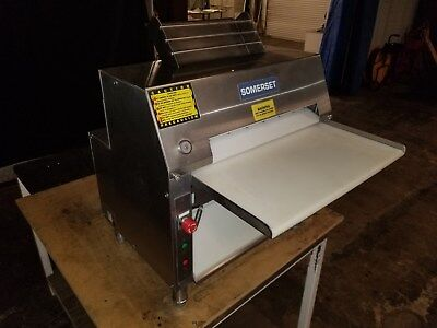 Somerset CDR 2000  Double Pass Dough Roller - Stainless Steel..Watch Video Demo