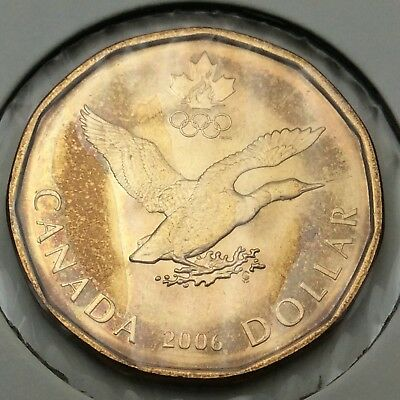 2006 Canada 1 One Dollar Lucky Loonie Uncirculated Coin C751
