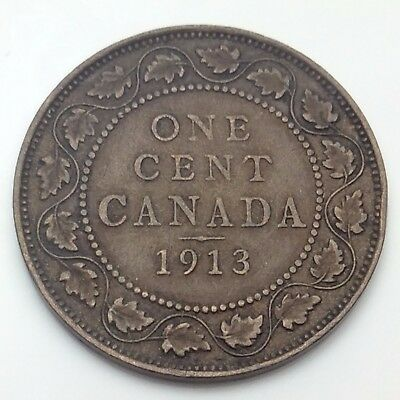 1913 Canada Copper One Cent Penny Circulated Canadian Coin C776