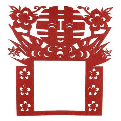 Unique Bargains Chinese Wedding Paper Cut Double Happiness Flowers Wall...