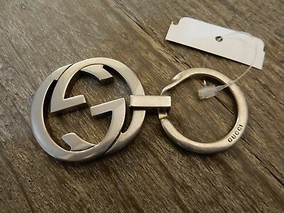 GUCCI GG Logo Silver Tone Key Ring Keychain SOLD OUT IN STORES! LIMITED SUPPLY