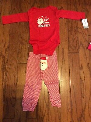 My First Christmas Carters Pajamas Size 18 Months NWT