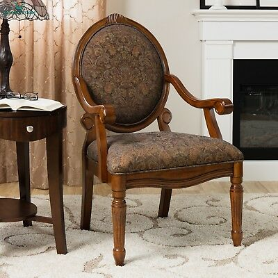 Oval-Tip Midnight Arm Chair Old World Style Forniture Decor Home Design Classic