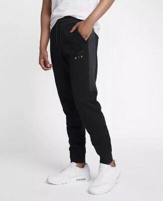 Nike Air Mens Nsw Fleece Jogger Pants Black/ Anthracite -Size Xl- 861626-010