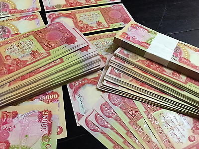 ONE MILLION IRAQI DINAR (40) 25,000 NOTES -  Uncirculated