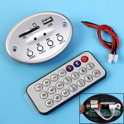 5V MP3 Decoder Board Stereo Audio Amplifier USB SD Card U Disk W/ Remote Control